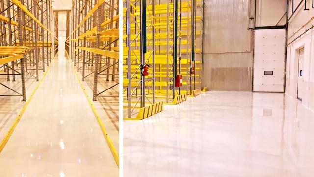 Наливные полы TEXON® для высоких нагрузок на фармакологическом складе ООО «Фармпартнер»