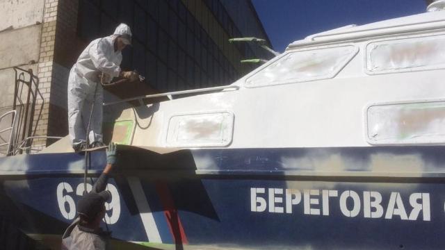 Высокотехнологичные ЛКМ по технологии HEMPEL использовали в ремонте ПСК в Азовской судоверфи
